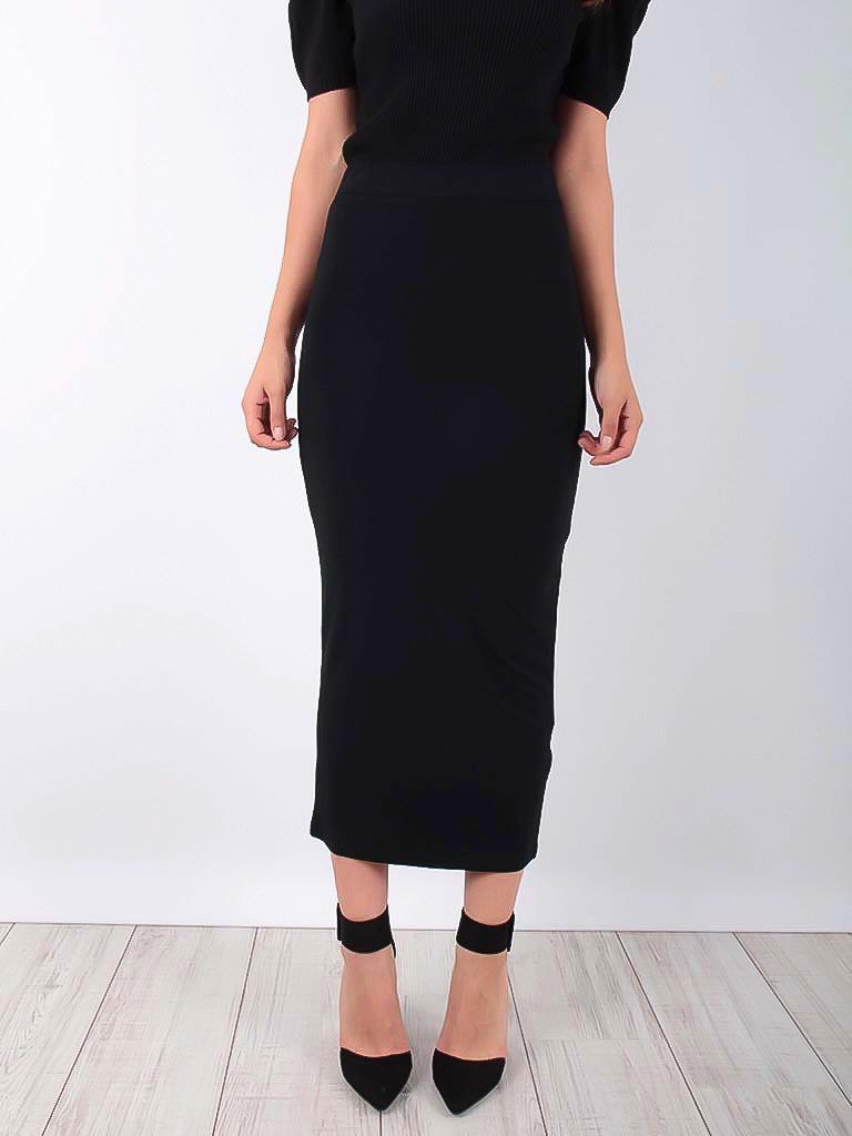 KOOIOOK Midi Pencil Skirt Black