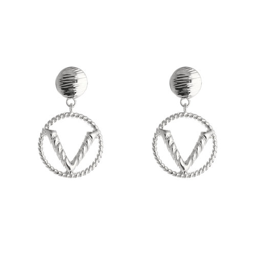 LADYLIKE FASHION Earrings Fashion V Silver