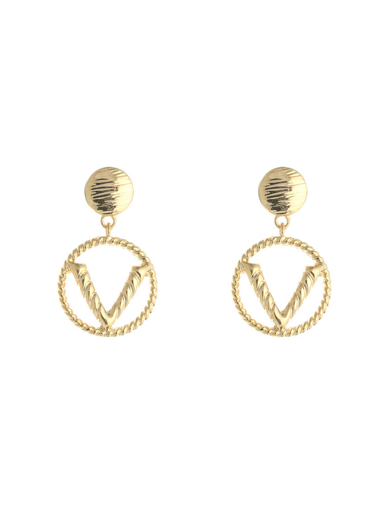 LADYLIKE FASHION Earrings Fashion V Gold