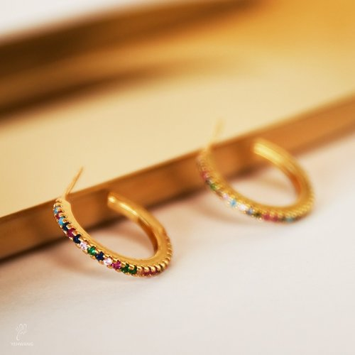 LADYLIKE FASHION Earrings Rainbow Gold