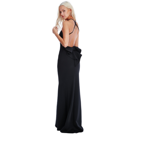 LADYLIKE FASHION Bow Detail Maxi Dress Black