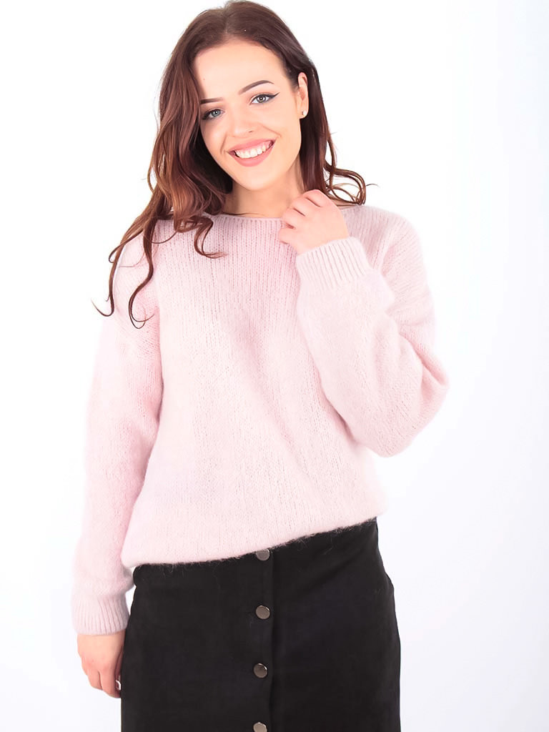 NAÏS - LADYLIKE FASHION Boxy Fluffy Jumper Rose