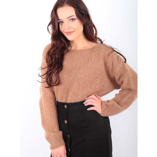 LADYLIKE FASHION Boxy Fluffy Jumper Camel