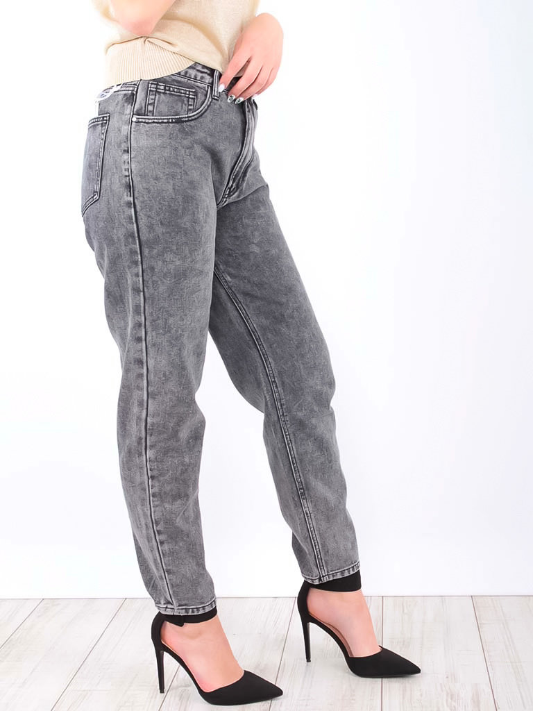 REDIAL Mom Fit Jeans Grey