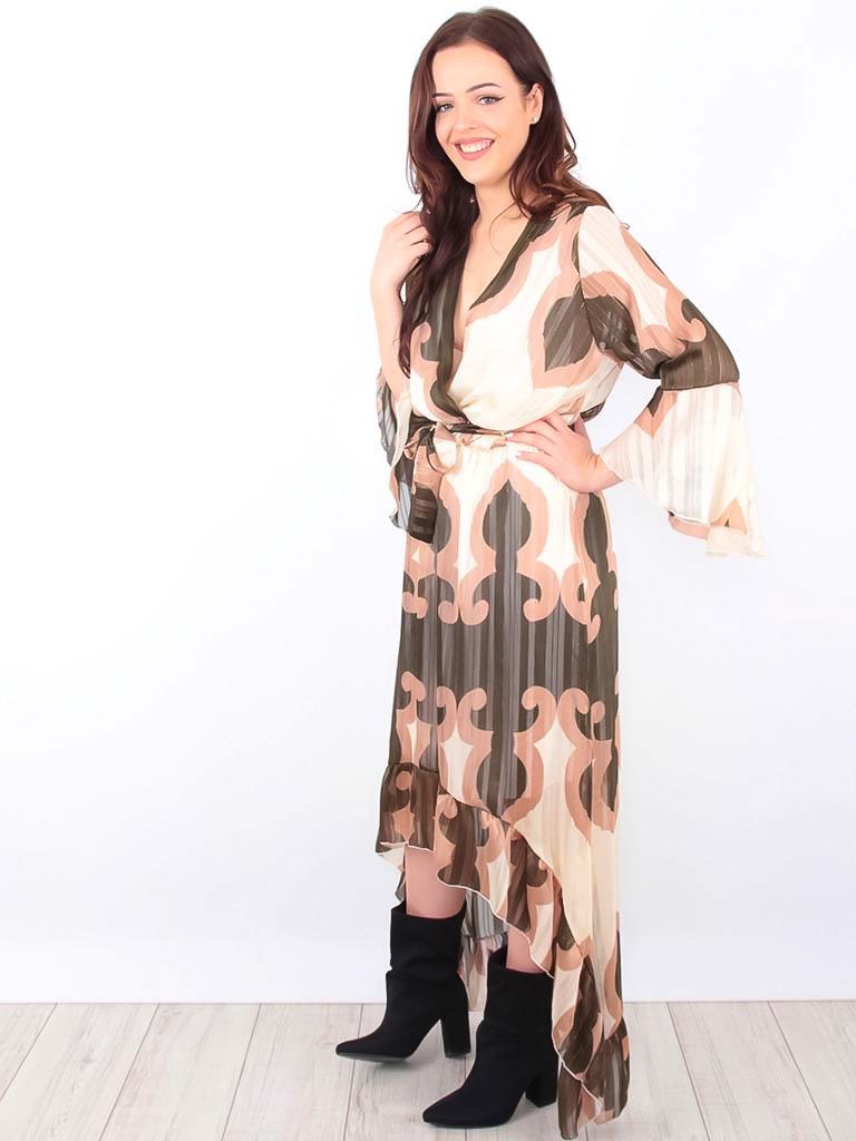 LADYLIKE FASHION Waterfall Maxi Dress Gold