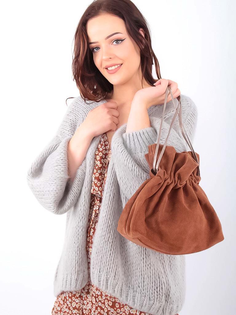 LADYLIKE FASHION Knitted Cardigan Grey