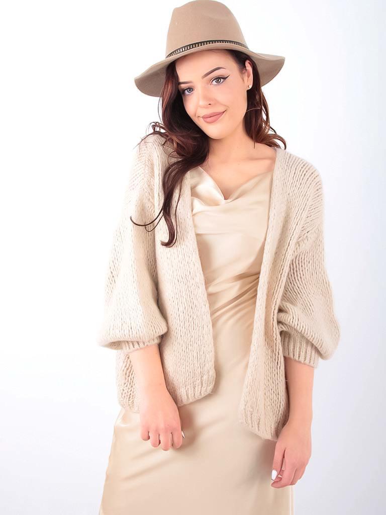 LADYLIKE FASHION Borselino Hat Wool 57CM Camel