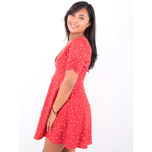 EIGHT PARIS Hearts Dress Red