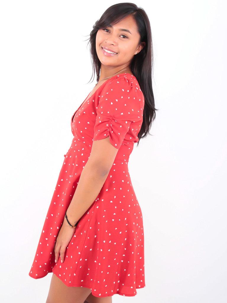 LADYLIKE FASHION Hearts Dress Red