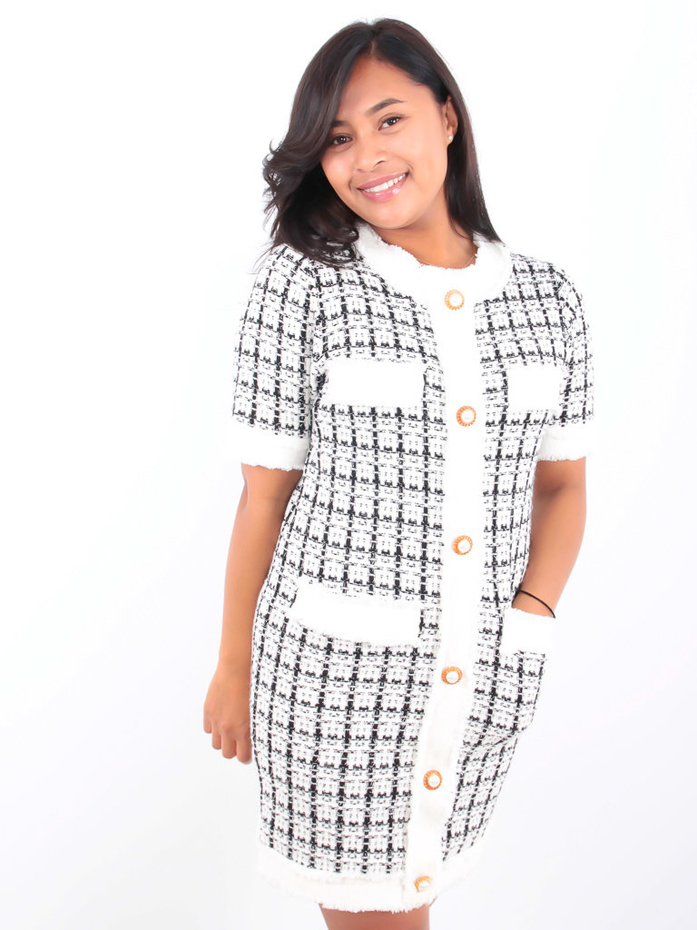 MISSKOO Classic Dress White