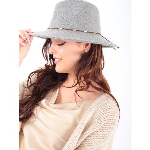 LADYLIKE FASHION Borselino Hat Soft Wool 57cm Grey
