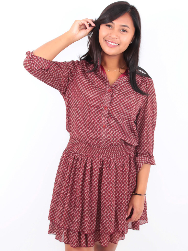 DRŌLE DE  COPINE-  LADYLIKE FASHION Shirt Dress Print Red