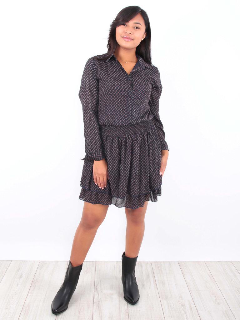 DRŌLE DE  COPINE-  LADYLIKE FASHION Shirt Dress Print Blue