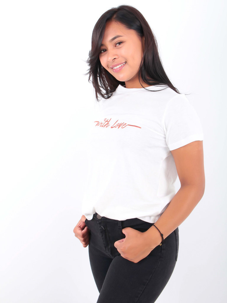 LADYLIKE FASHION With Love Shirt White