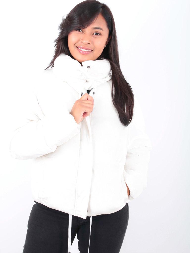 K.ZELL - LADYLIKE FASHION Puff Jacket White