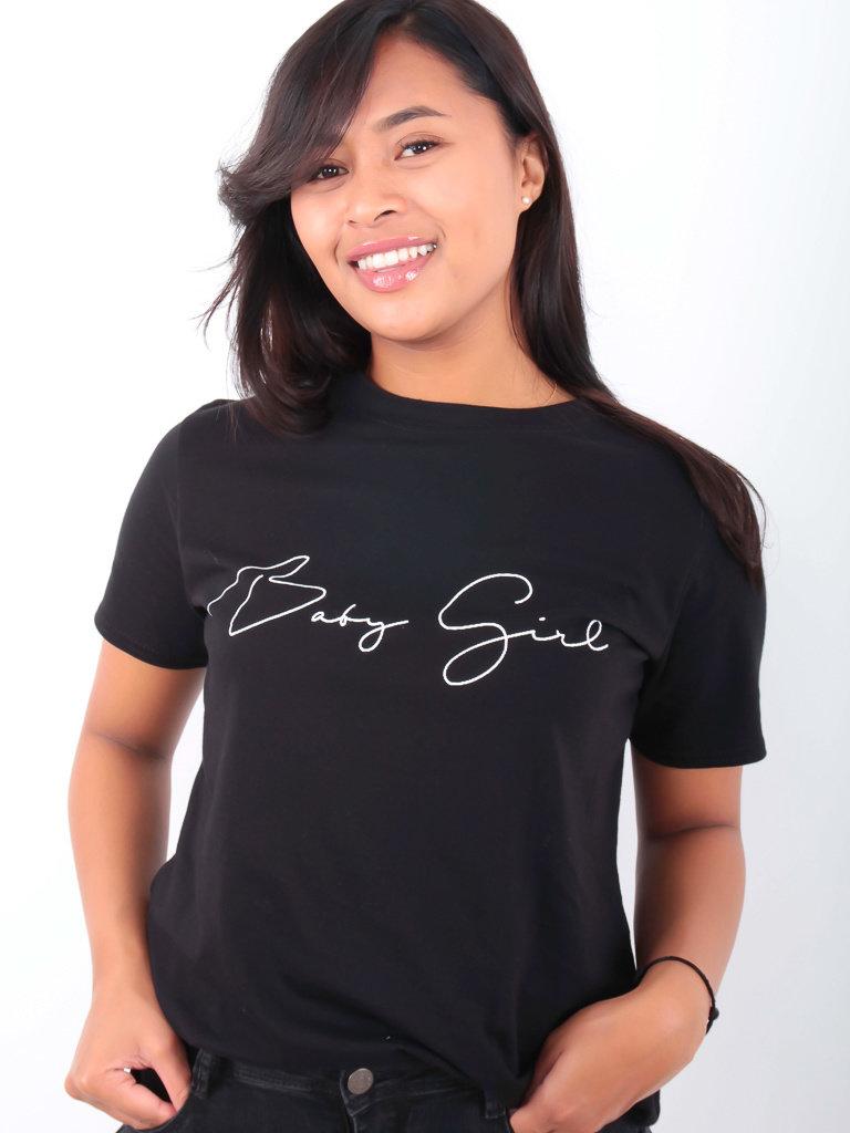 PRETTY BODY- LADYLIKE FASHION Baby Girl Shirt Black