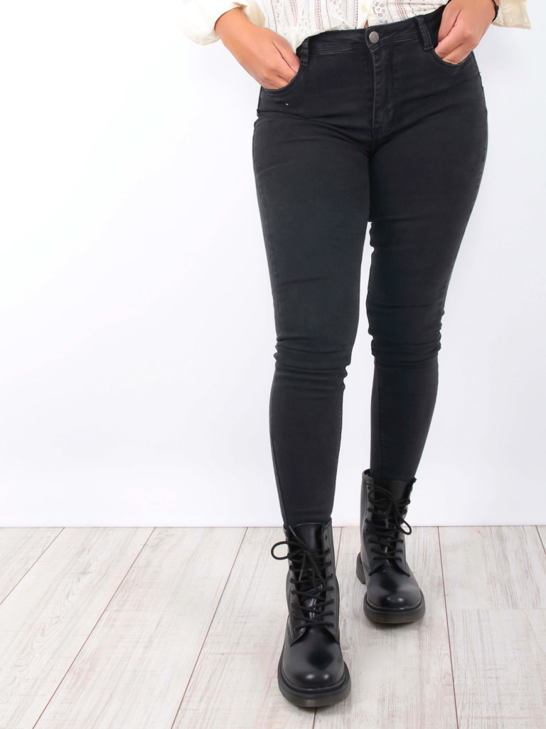 REDIAL Push Up Jeans Black
