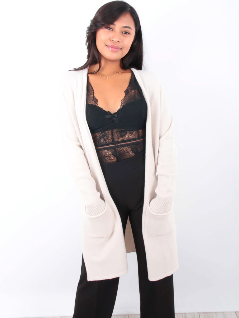 ALEXANDRE LAURENT Long Cardigan Beige