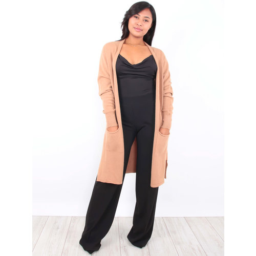 LADYLIKE FASHION Long Cardigan Camel