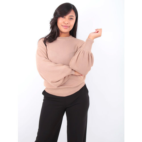 By Clara Puffy Jumper Camel