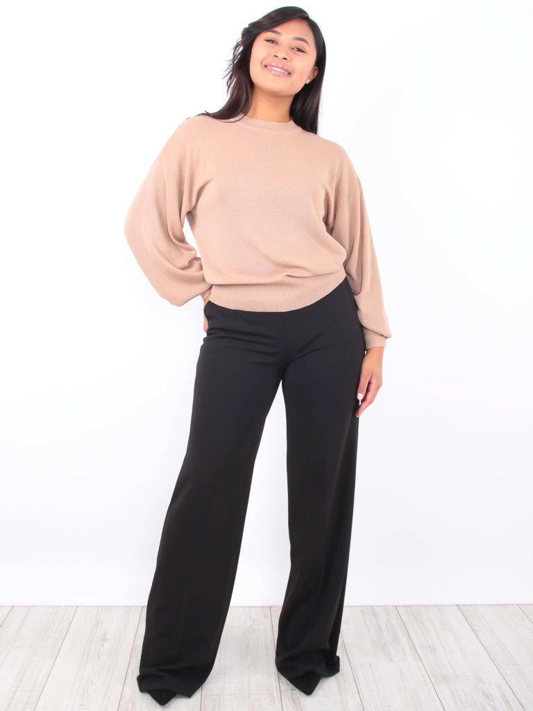 LADY LOL - LADYLIKE FASHION Wide Leg Trousers Black
