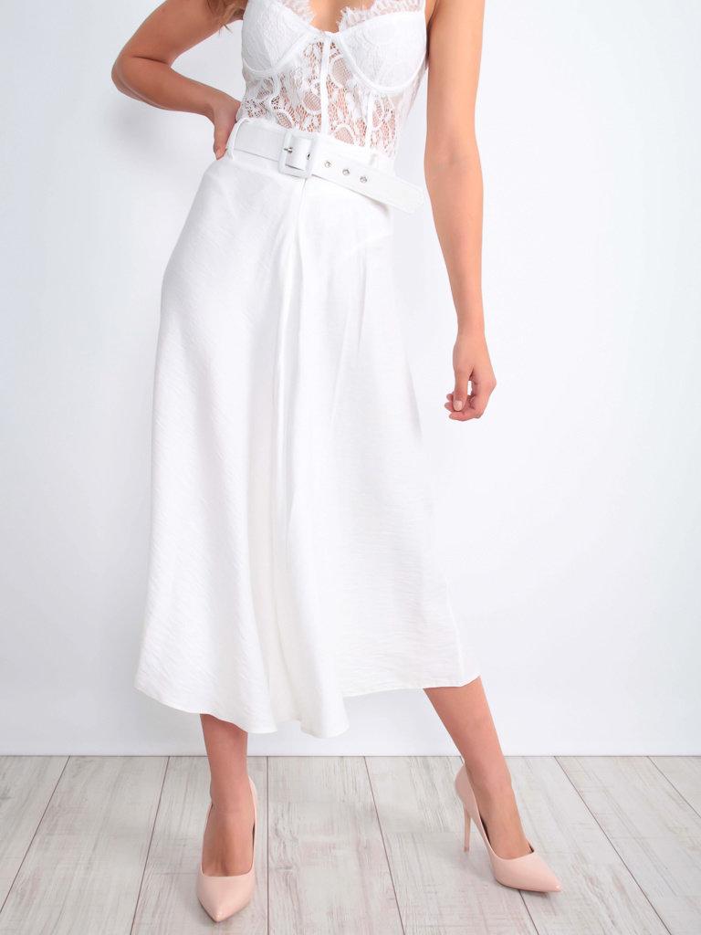 LADYLIKE FASHION Skirt With Belt Ecru