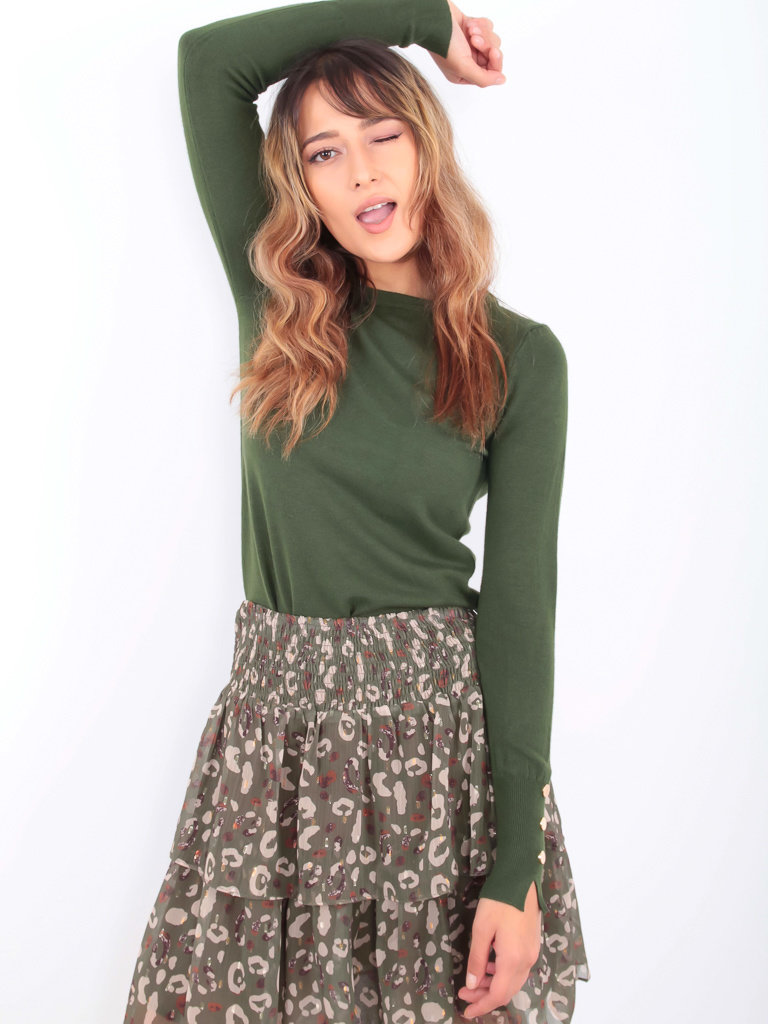 DRŌLE DE  COPINE Soft Jumper Green