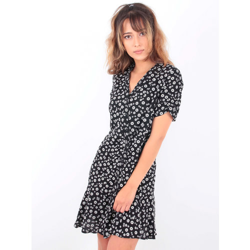 EIGHT PARIS Small Floral Print Dress Black