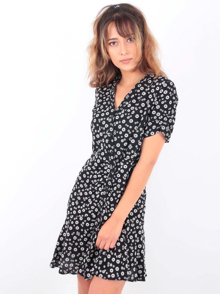 EIGHT PARIS - LADYLIKE FASHION Small Floral Print Dress Black