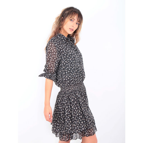 Drôle de Copine Dress Little Flower Black