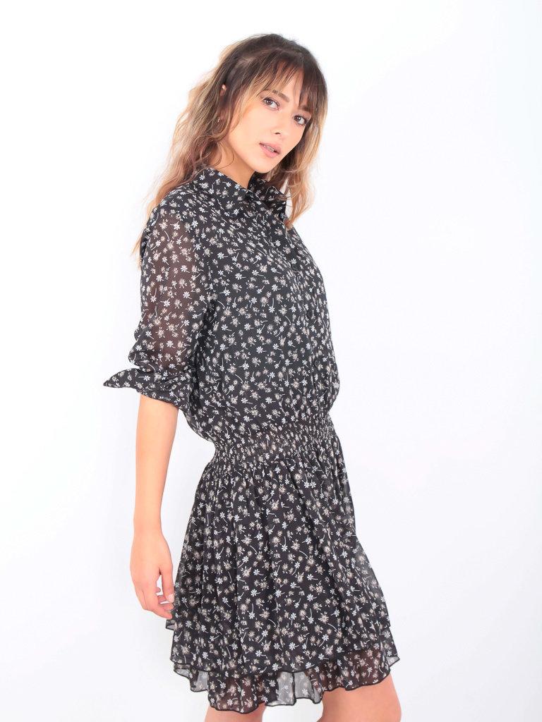 DRŌLE DE  COPINE-  LADYLIKE FASHION Dress Little Flower Black