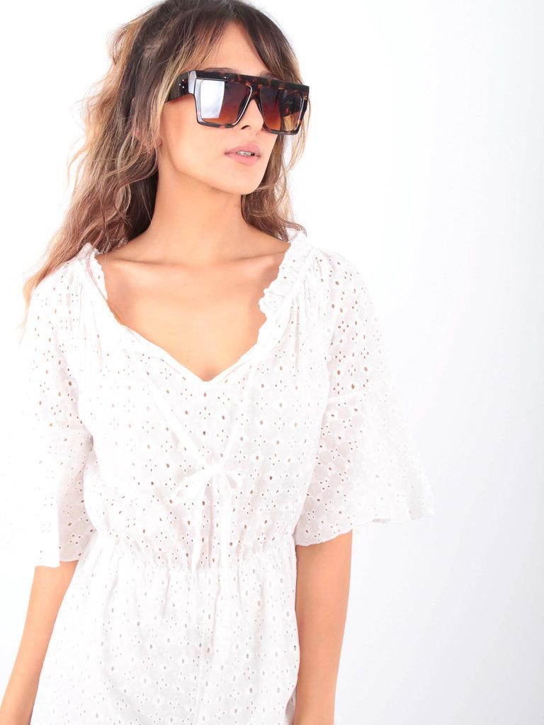 LADYLIKE FASHION Sunglasses Square Brown