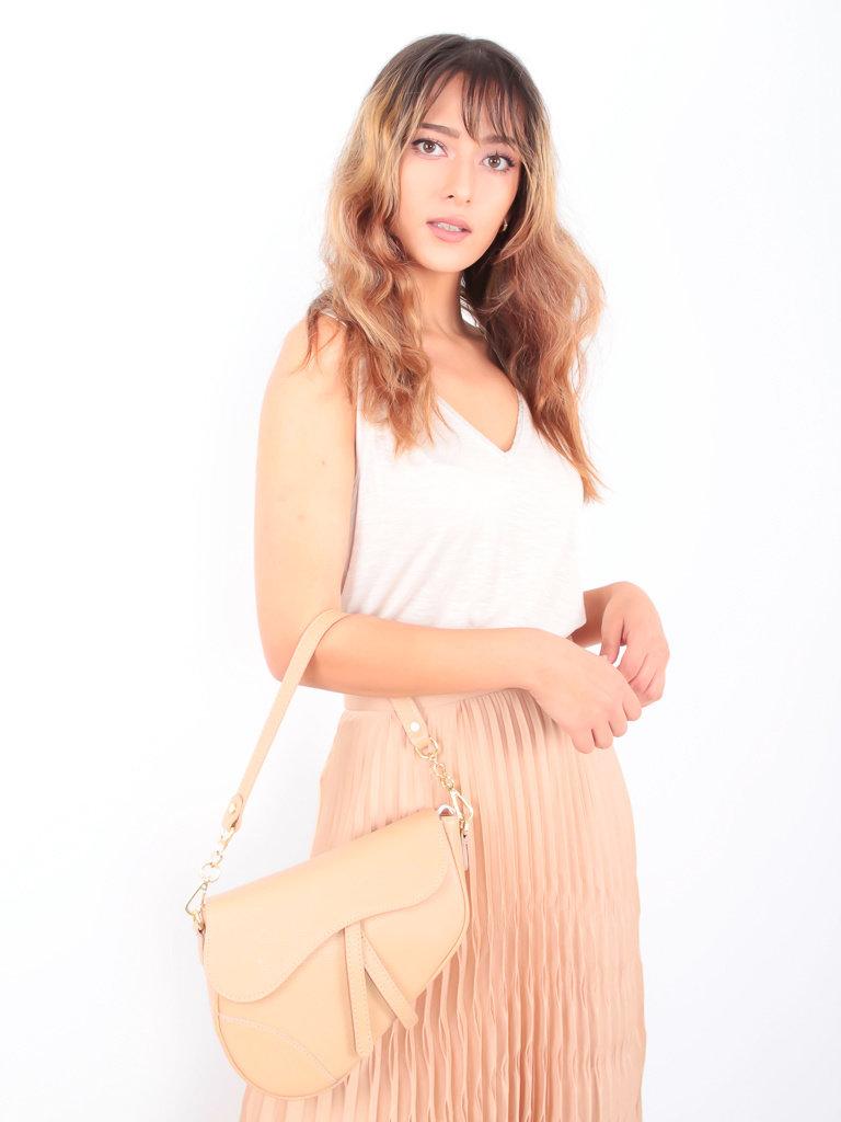 LADYLIKE FASHION Saddle Bag Bag Beige