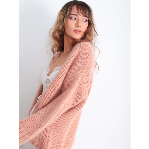 ALEXANDRE LAURENT Knitted Cardigan Old Rose