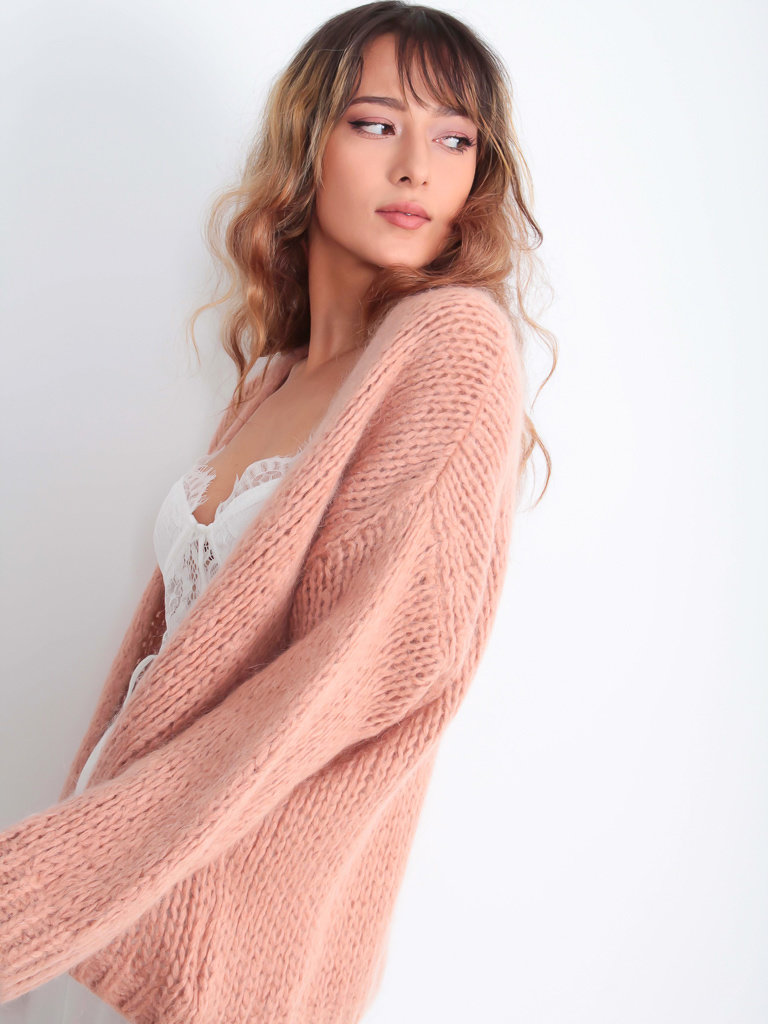 ALEXANDRE LAURENT - LADYLIKE FASHION Knitted Cardigan Old Rose
