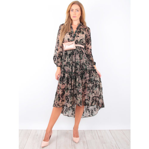 KILIBBI Forest Print Maxi Dress Green