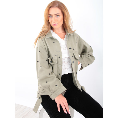 KAYCEE Star Jacket Green