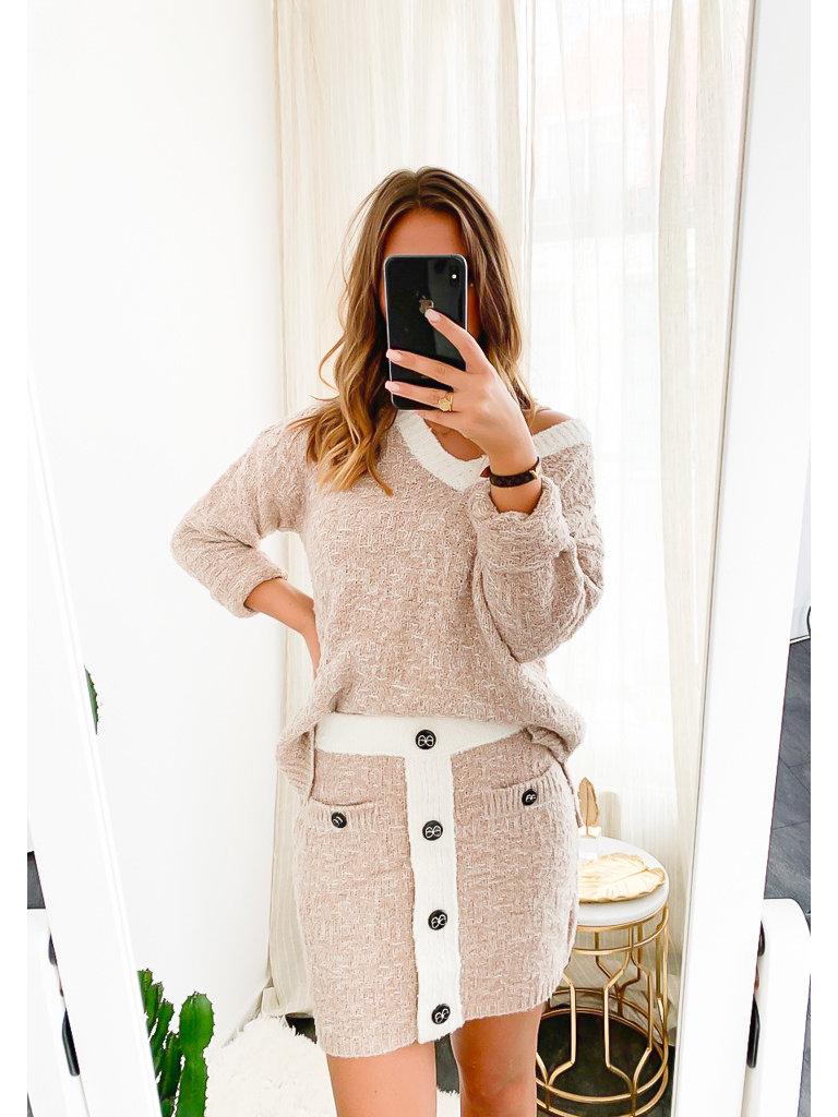 MISSKOO - LADYLIKE FASHION Classic Skirt Beige