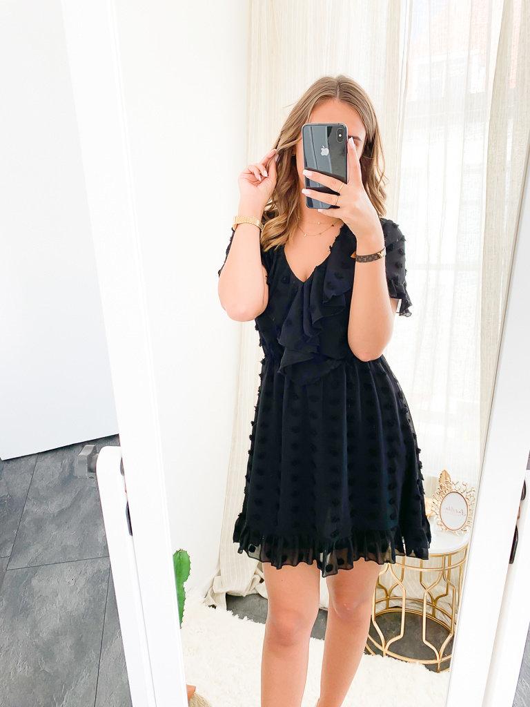 IVIVI Dress Plunging V-Neckline Black