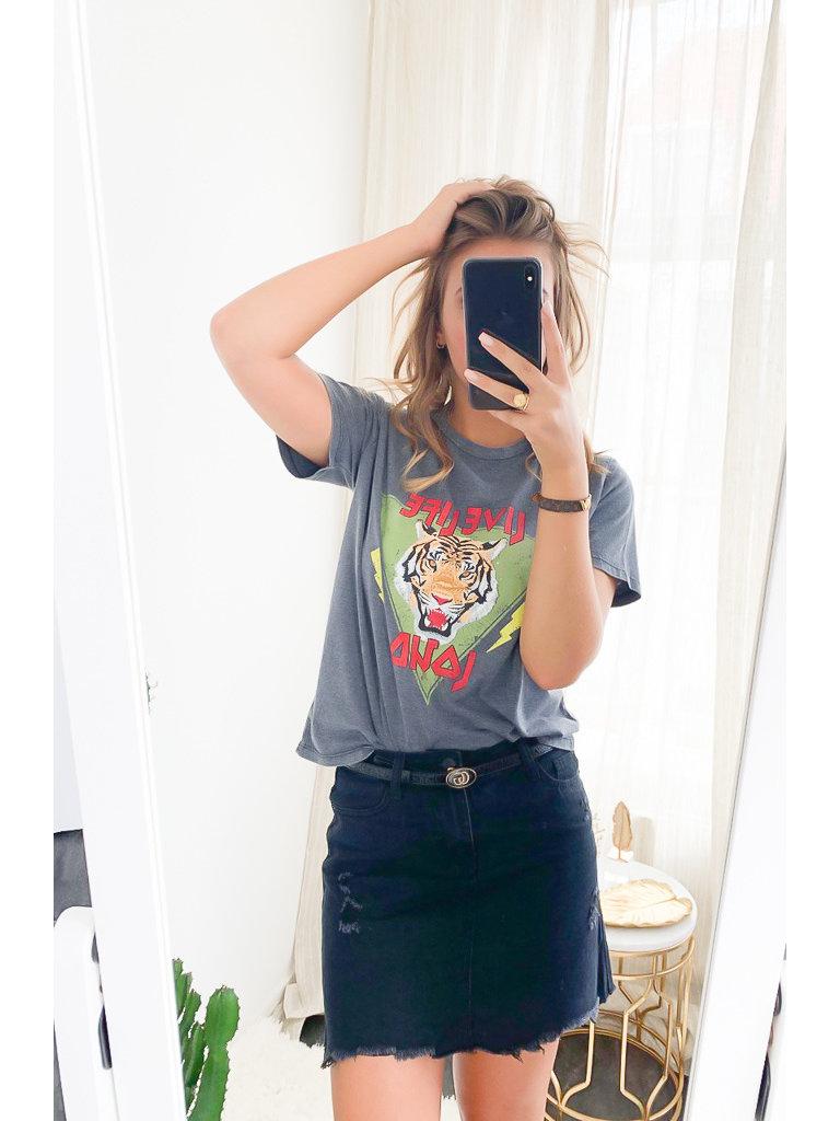 RISING - LADYLIKE FASHION T-Shirt Live Grey