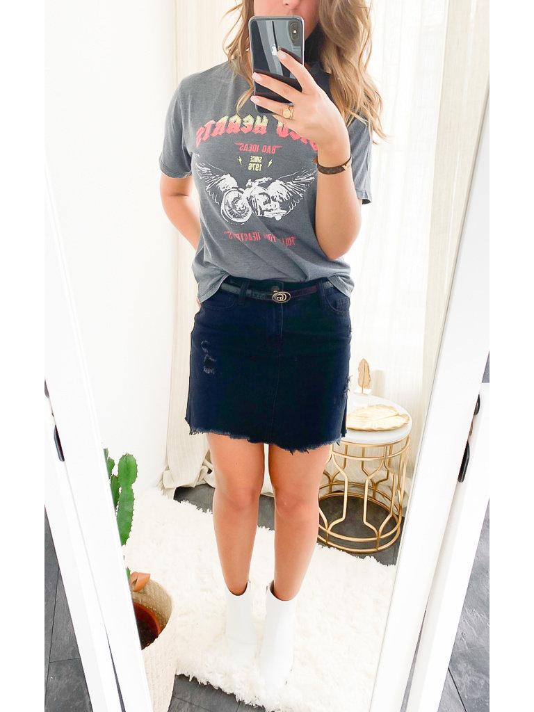 RISING - LADYLIKE FASHION T-Shirt Wild Grey