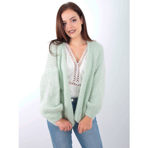 ALEXANDRE LAURENT Knitted Cardigan Mint