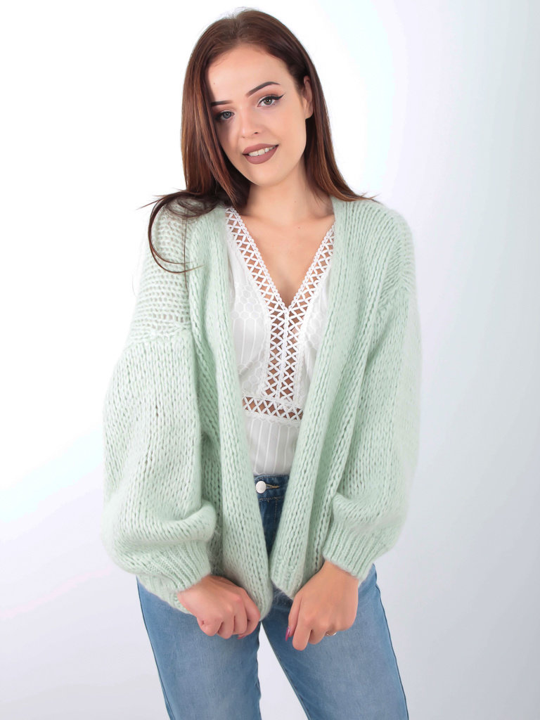 ALEXANDRE LAURENT - LADYLIKE FASHION Knitted Cardigan Mint