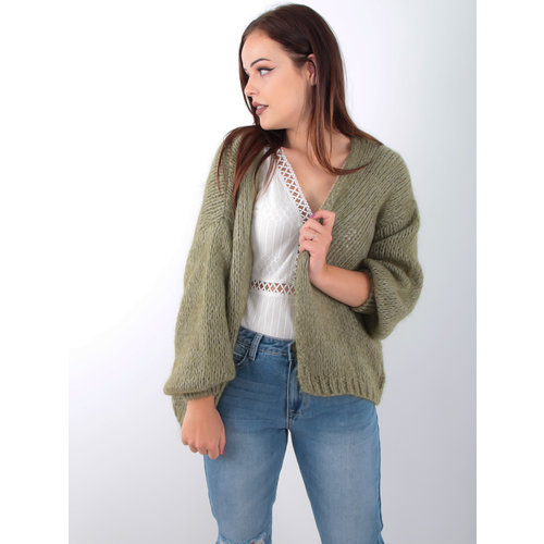 ALEXANDRE LAURENT Knitted Cardigan Green