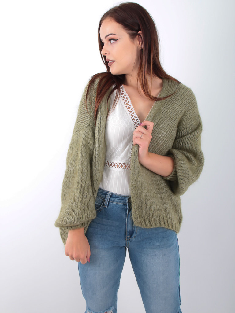ALEXANDRE LAURENT - LADYLIKE FASHION Knitted Cardigan Green