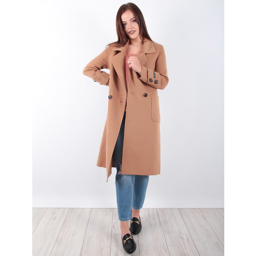 CIMINY Long Wool Coat Camel