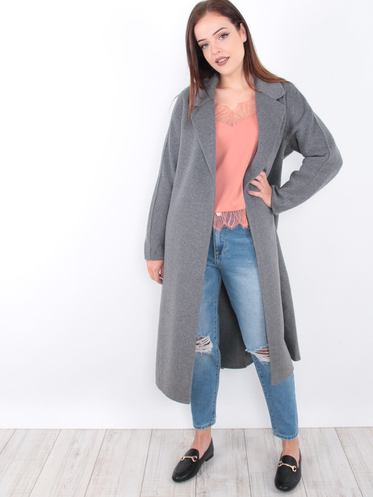 Classic Long Coat Wool Grey