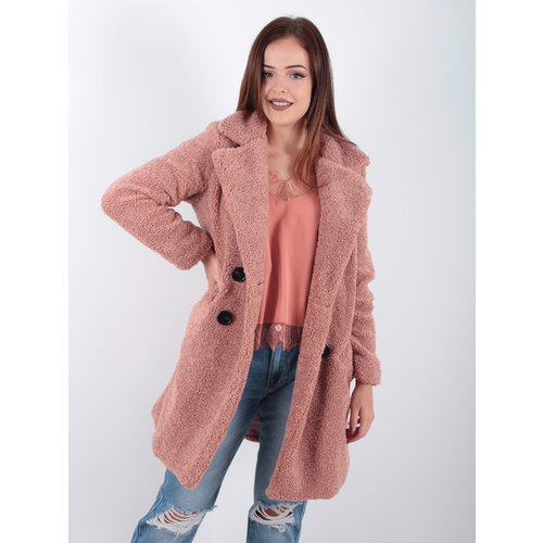 NOEMI KENT PARIS Teddy Jacket Pink