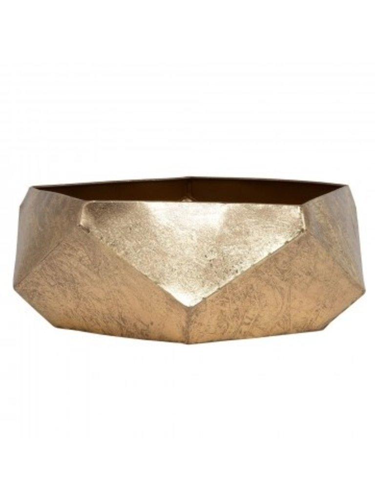 LADYLIKE FASHION Bowl Facet with Facet Faces, Gold Metal