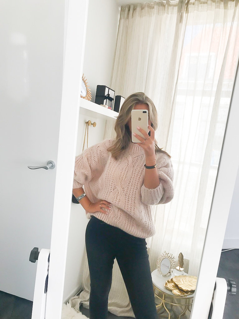 NAÏS Cable Knit Jumper Soft Pink